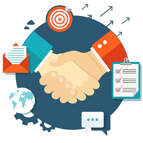 seo partner handshake
