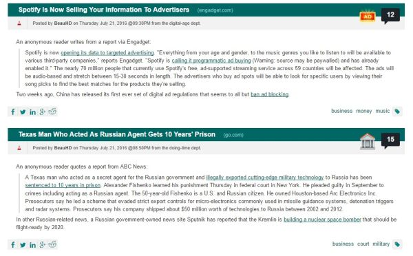 Slashdot News for nerds ~ Content Curation for SEO