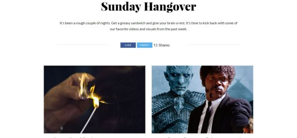 Sunday Hangover Cool Material