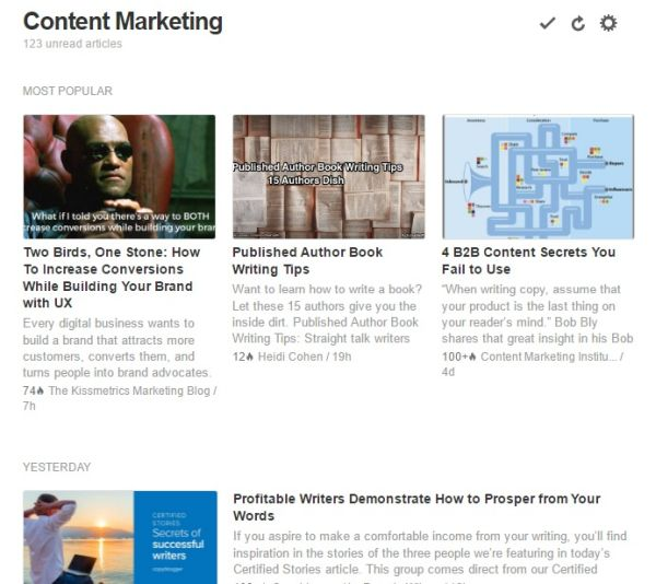 Feedly ~ Content Curation for SEO