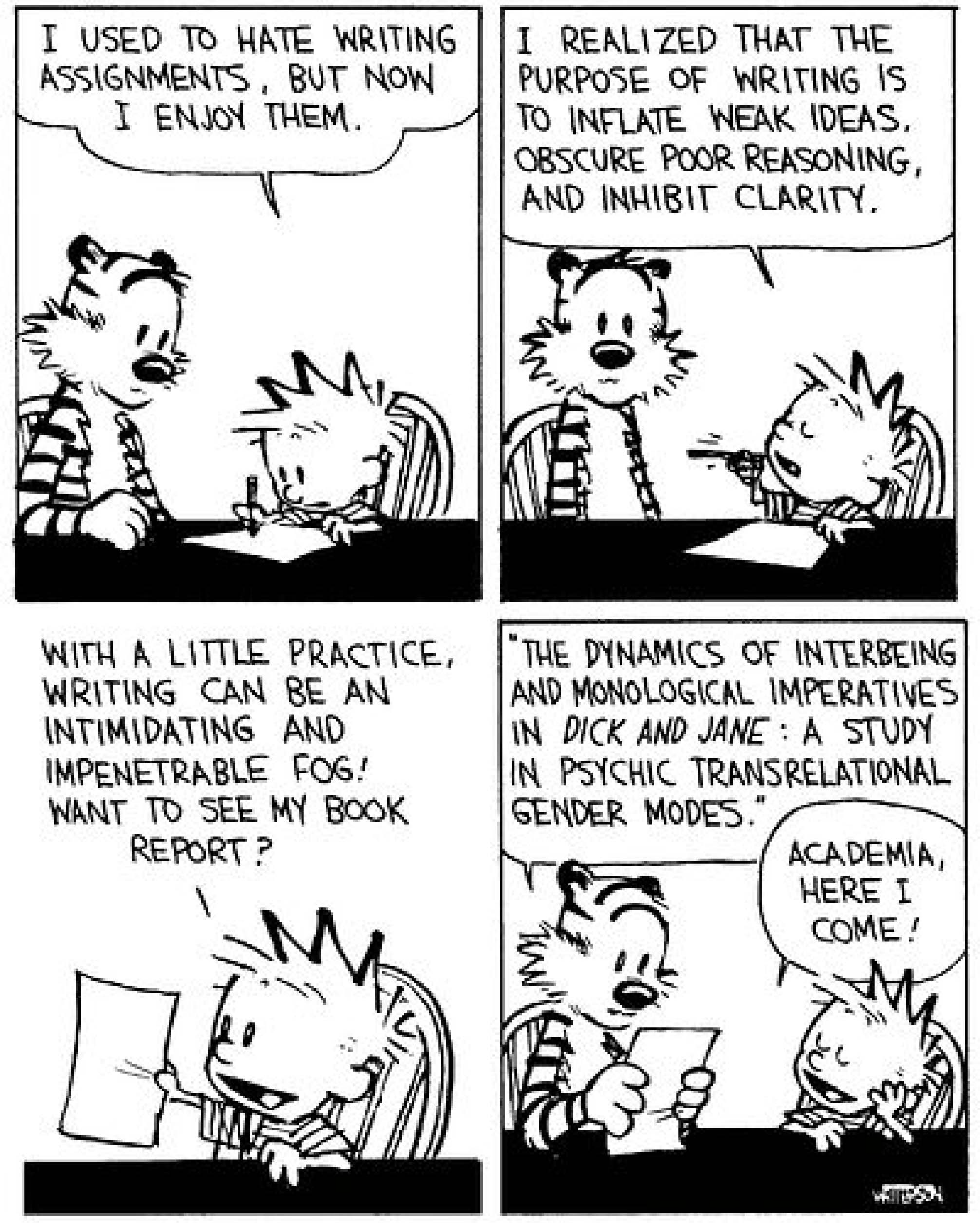 calvin hobbes word use