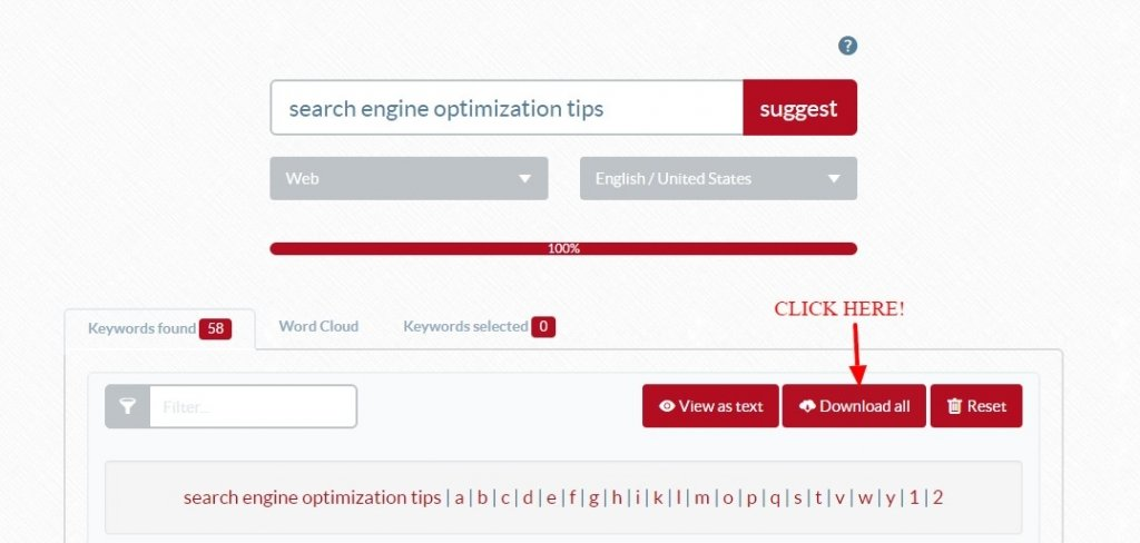 Ubersuggest your friendly keyword tool download