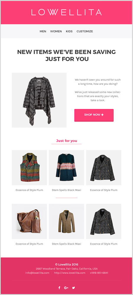 ecommerce remarketing email 2