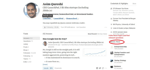 Asim Qureshi Quora Topics