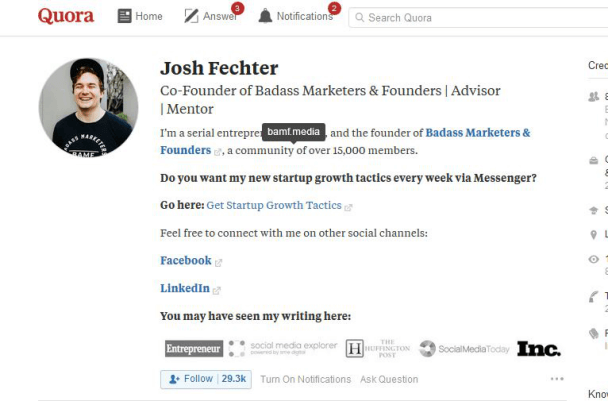 Josh Quora Feature