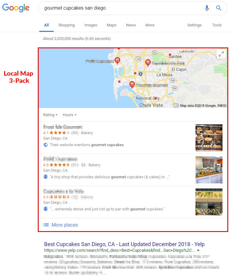 google local map pack
