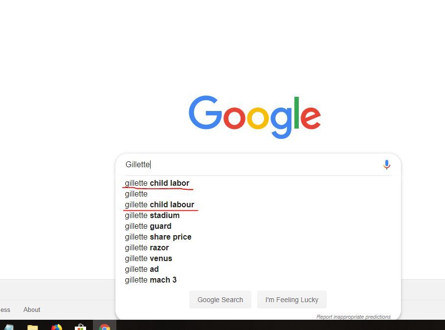negative search suggestion