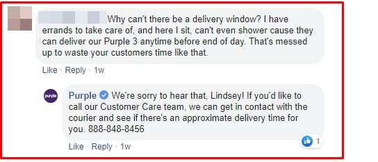 purple mattress customer service
