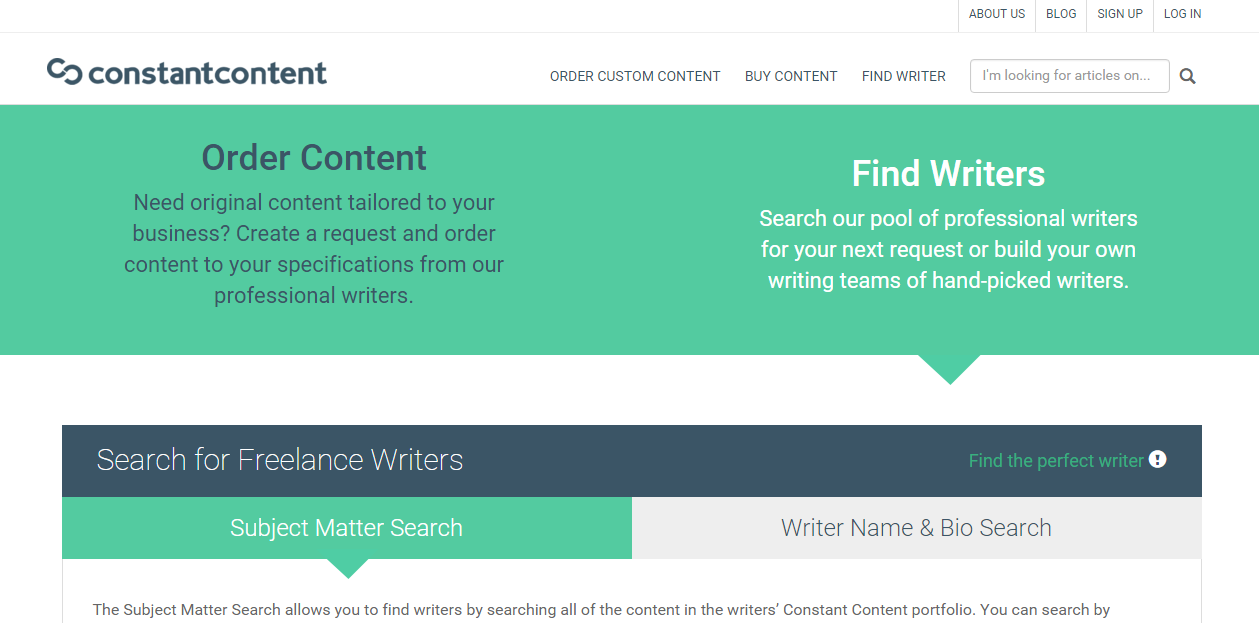 constant content search