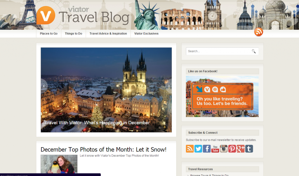 Viator Travel Blog