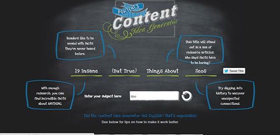 Portent's Blog Topic Generator
