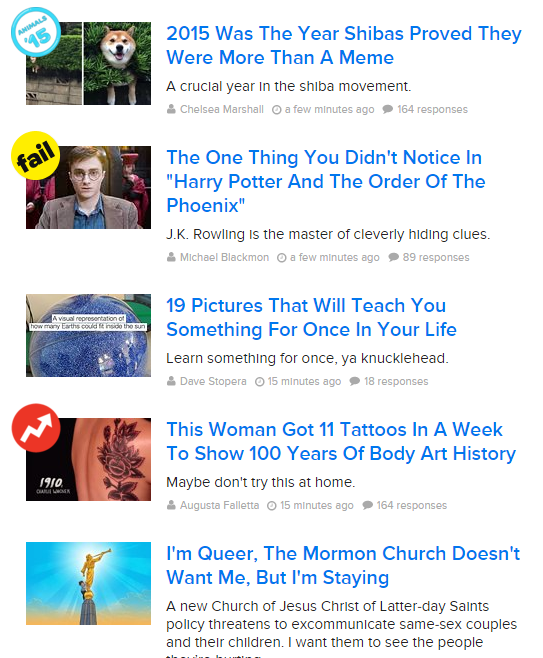 Buzzfeed Blog Titles