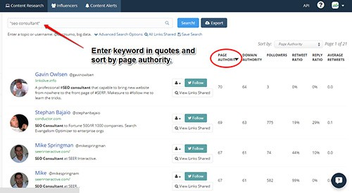Find influencers with Buzzsumo.